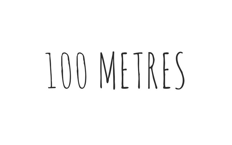 100 metres Logo